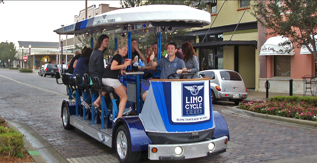Cycle Limo Tour - $45 pp - 2 hrs (6 passengers min)